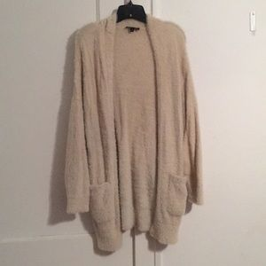 Express Fuzzy Balloon Sleeve Cardigan